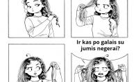Merginų problemos su plaukais