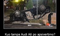 Kai Audi A6 apsiverčia