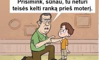 Svarbi tėvo pamoka visam gyvenimui