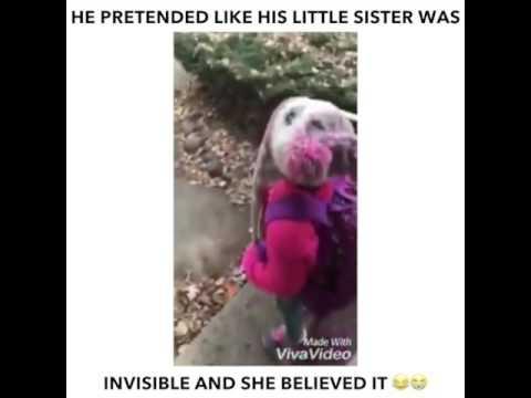 Brolis apgauna sesę, kad ji nematoma