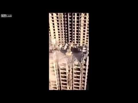 Kaip Kinijoje griaunami pastatai