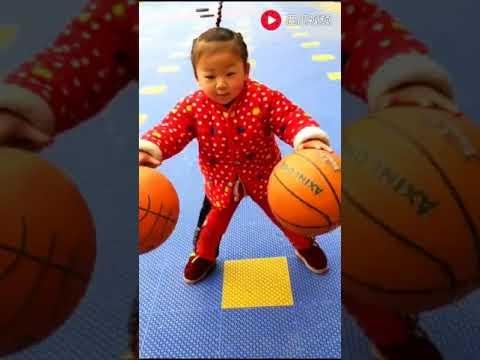 Kinų vaikai ir kamuolio driblingo ypatumai