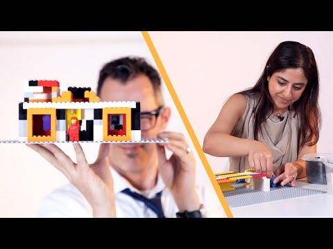 Architektai stato namus iš žaislinių blokų