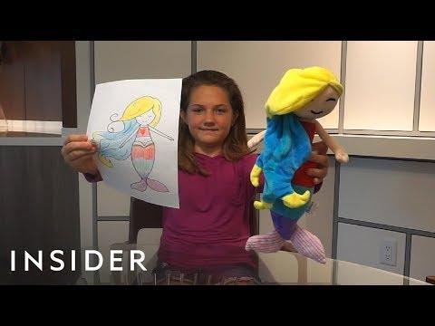 Žaislų kompanija kuria žaislus pagal vaikų piešinius