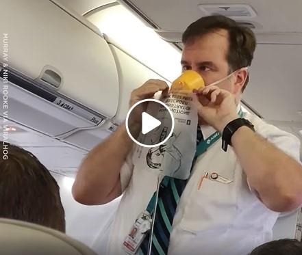 Linksmi apmokymai prieš skrydį