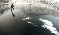 Ledo ritulys ant užšalusio ledo