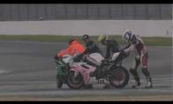 Linksmiausia motociklų avarija lenktynių istorijoje