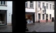 Potvynis Vilniaus Pilies gatvėje