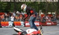 Nerealūs triukai su motociklu