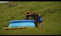 Giant waterslide jump