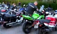 Debilas ir motociklas
