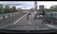 Žiauri motociklo avarija