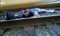 Debilas po traukiniu