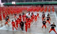 Masinė kalinių tūsovkė pagal Gangnam style