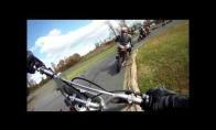 Motociklo avarija vairuotojo akimis