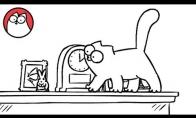 Saimono katė ir lentyna