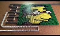 Dienos LOL'as: Simpsonai iš domino kaladėlių