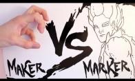 Žiauri kova: Ranka vs. Markeris