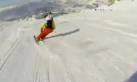 Neįtikėtinas leidimasis nuo kalno slidininko akimis