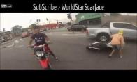 Motociklo vagis nušaunamas policininko