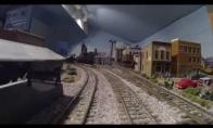 15 metų statytas mini traukinių miestelis