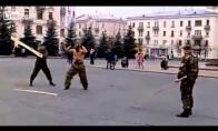 Rusijos specialusis būrys linksminasi