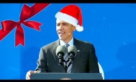 "Obama dainuoja ""Jingle Bells"""