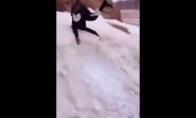 Beduinas pirmą kartą pamatė sniegą