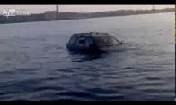 Dima už vairo - mašina ežere