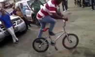 Talentingas dviratininkas iš gatvės