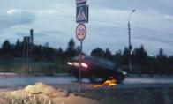 Rusai prieš greičio kalnelį