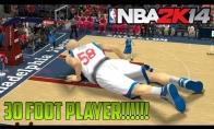 Jei NBA 2K14 žaistum su 9 metrų žaidėju