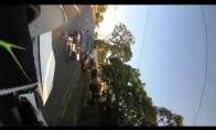Neįprasta motociklo avarija