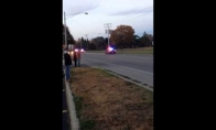 Kaip tuzinas policininkų motorolerį gaudė