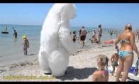 Baltas lokys pliaže