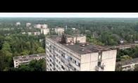 Šiurpus Černobylis iš paukščio skrydžio