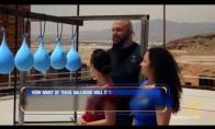 Kiek vandens balionų reikia kulkai sustabdyti?