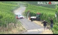 Traktorius pasimaišo ralio trasoje