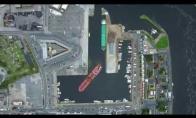 Kaip parkuojamas milžiniškas laivas