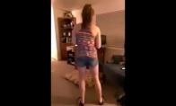 Nepaprastas panelės šokis