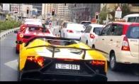 Karštas pasirodymas su Lamborghini