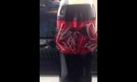 Coca-Cola butelis su kaspinu