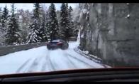 Driftina snieguotam kalnų kely