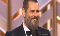 """Jim Carrey pasirodymas """"Auksiniuose gaubliuose"""""""
