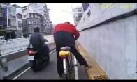 Girto dviratininko kančios