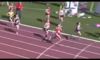 Nerealus bėgikės finišas