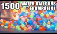 1500 vandens balionų ant trampyno