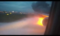 Degantis lėktuvo variklis