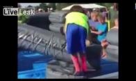 Vaikas bandė užkariaut Takeshi pilį
