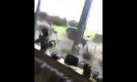 Vyras prigąsdino elnią